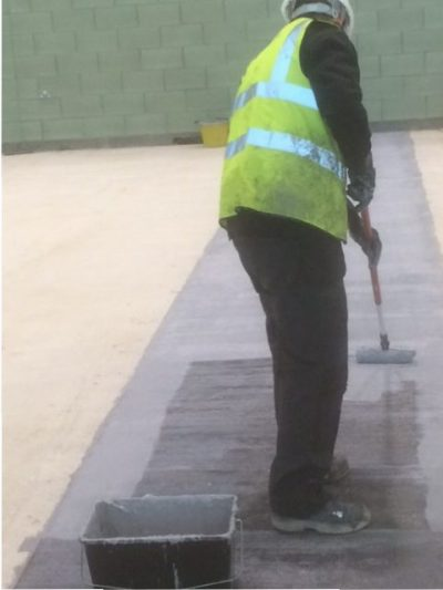 Concrete slab repair in progress at East Riding Leisure