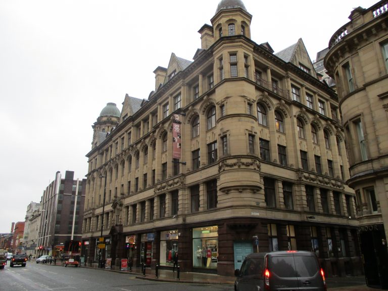 196 Deansgate before any stone repairs/cleaning