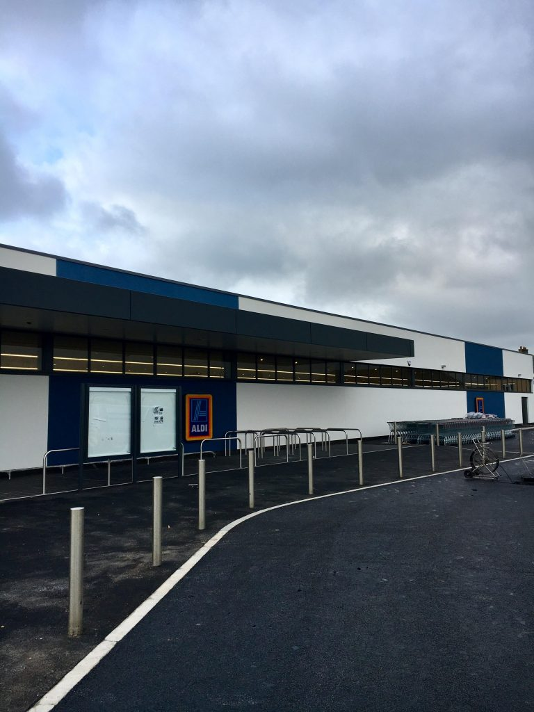 Completed new EWI installation to Aldi Store in Redruth