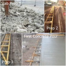 Step by step replacement of defective concrete slab