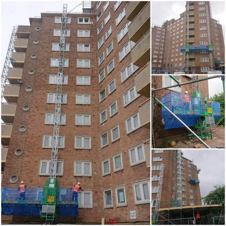 Birmingham Hi-Rise Tower working from mast climbers