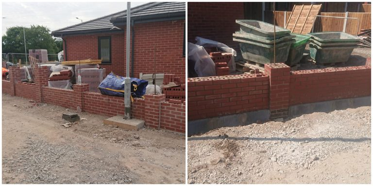 Progress of New Build Wall Liverpool