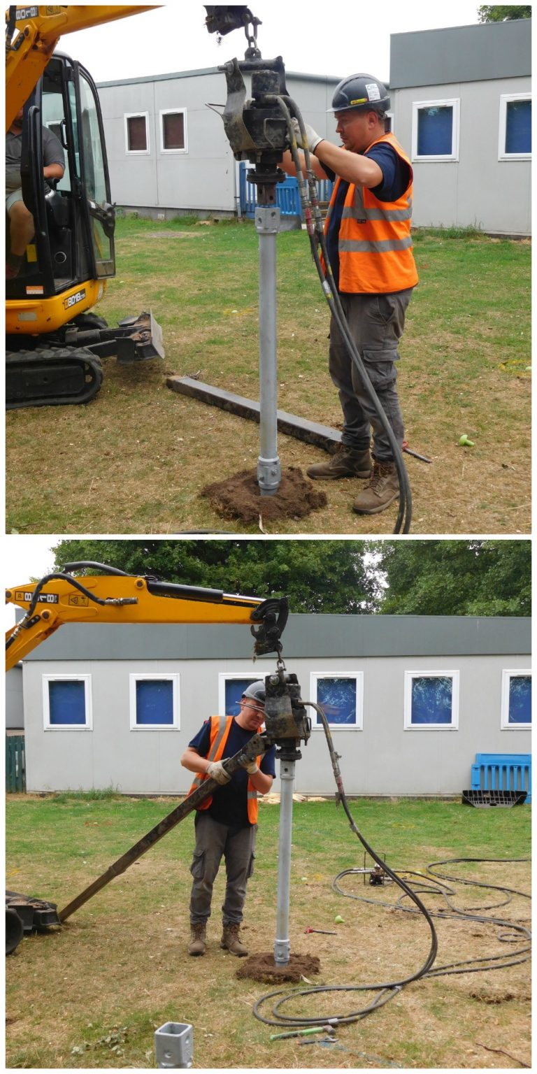 Installation of Helifix Micro-Pile at Abbey Gate School